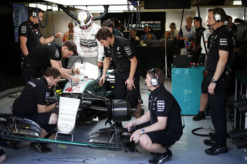 Mercedes F1 team eyes second-shift system for 21 grand prix year