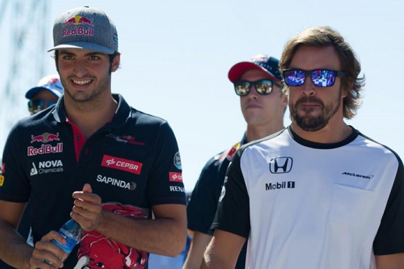 Alonso's tough 2015 with McLaren a big lesson as F1 rookie - Sainz