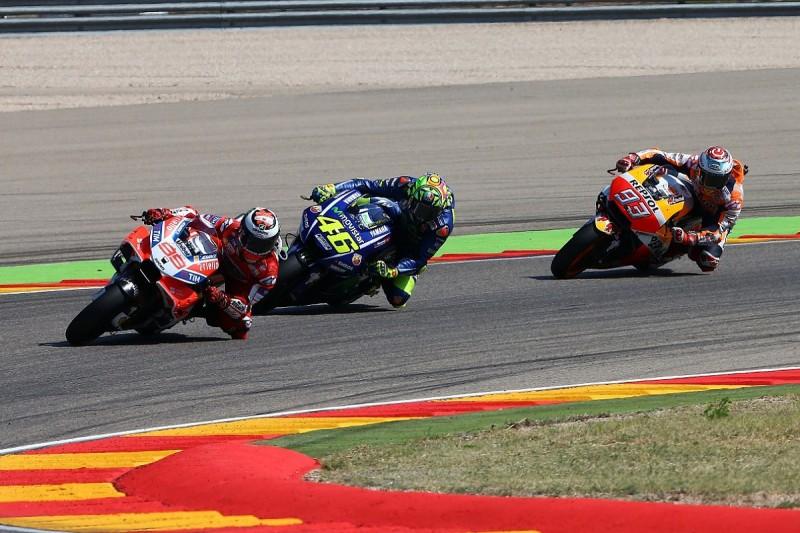 Rivals praise injured Rossi's 'incredible' MotoGP Aragon performance