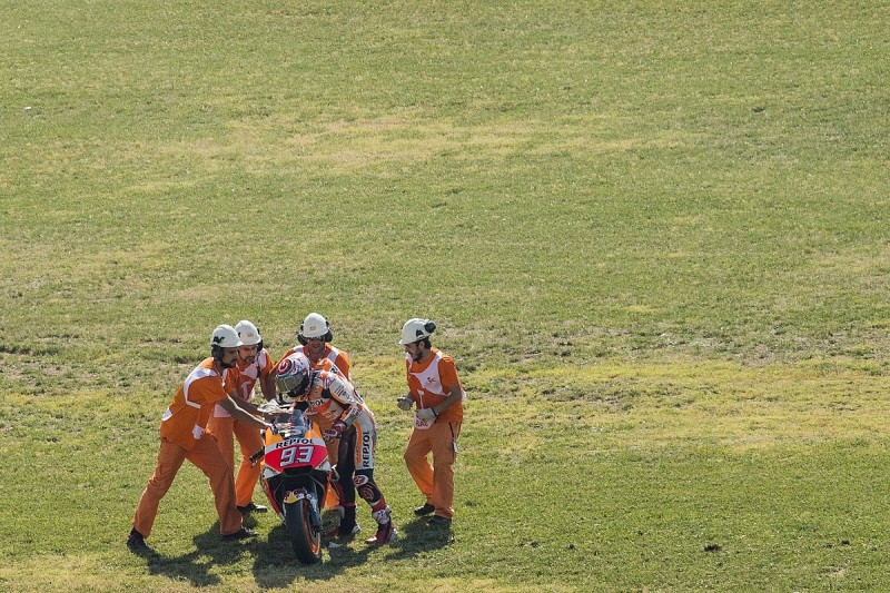 Aragon MotoGP: Marquez 'pushing too much' before qualifying crash