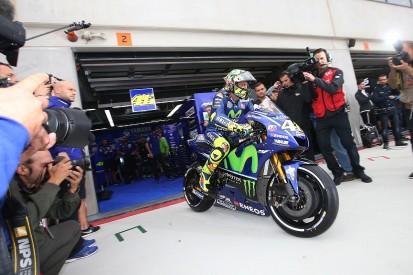 Valentino Rossi wants dry running before Aragon MotoGP race call