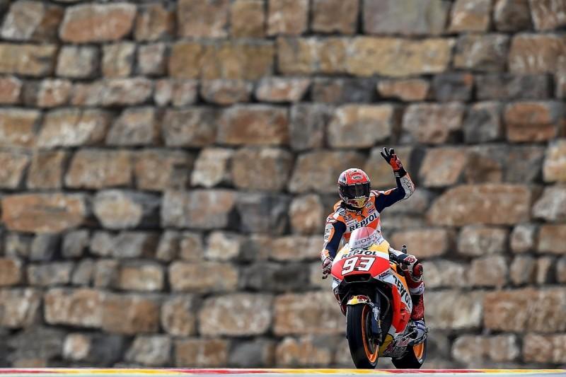 Aragon MotoGP: Marc Marquez leads practice, Valentino Rossi 18th