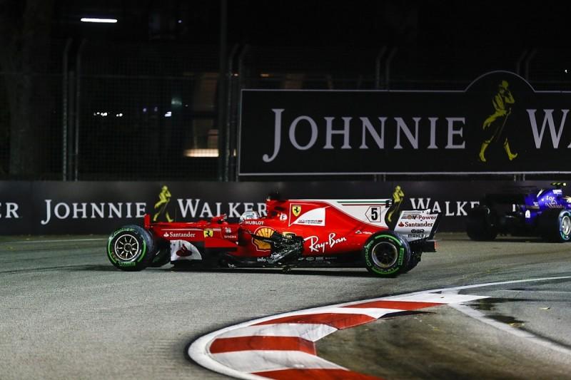 Sebastian Vettel's Ferrari engine undamaged in Singapore GP crash