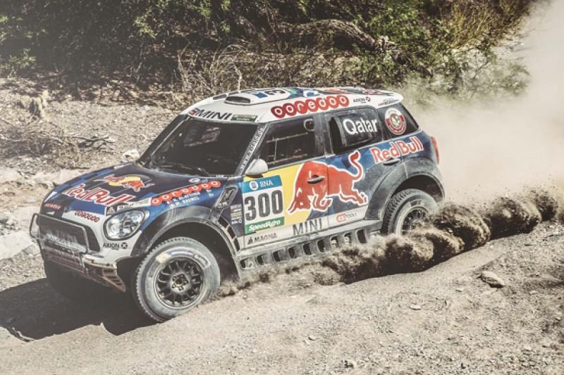 Al-Attiyah wins Dakar stage for Mini, Loeb crashes and loses lead