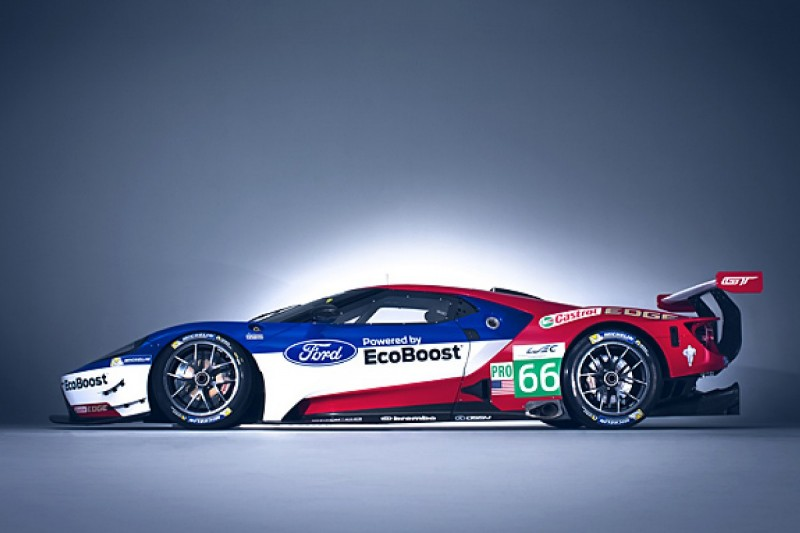 New Ford GT WEC racer on display at Autosport International 2016