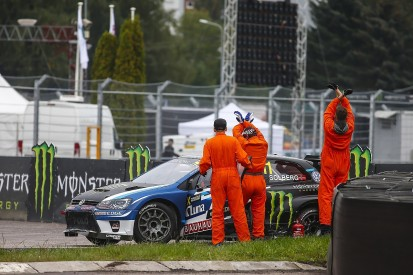 Petter Solberg broke collarbone in Latvia World Rallycross crash