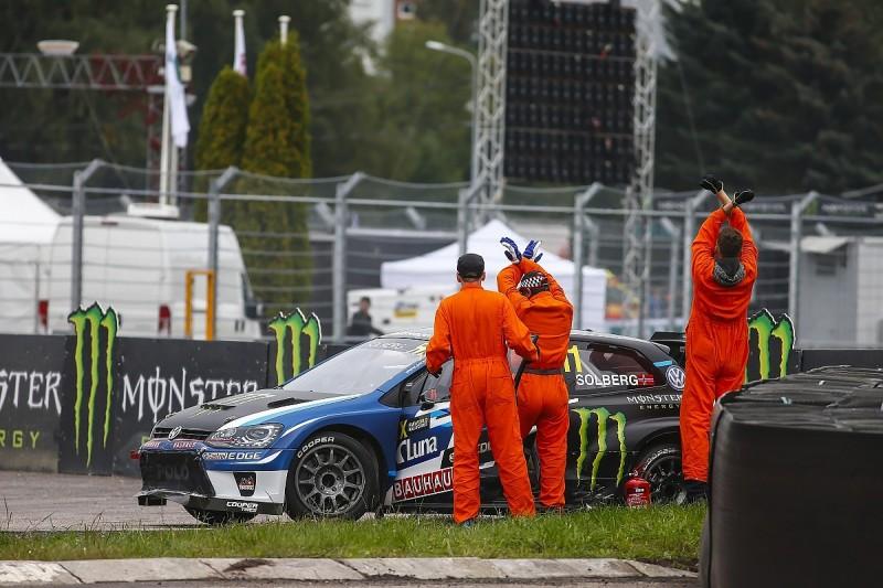 Petter Solberg broke collarbone in Latvia World Rallycross crash