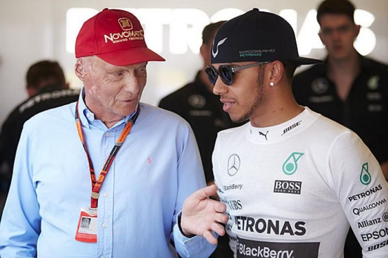 Lewis Hamilton believes Niki Lauda wasn't a fan of his early on in F1