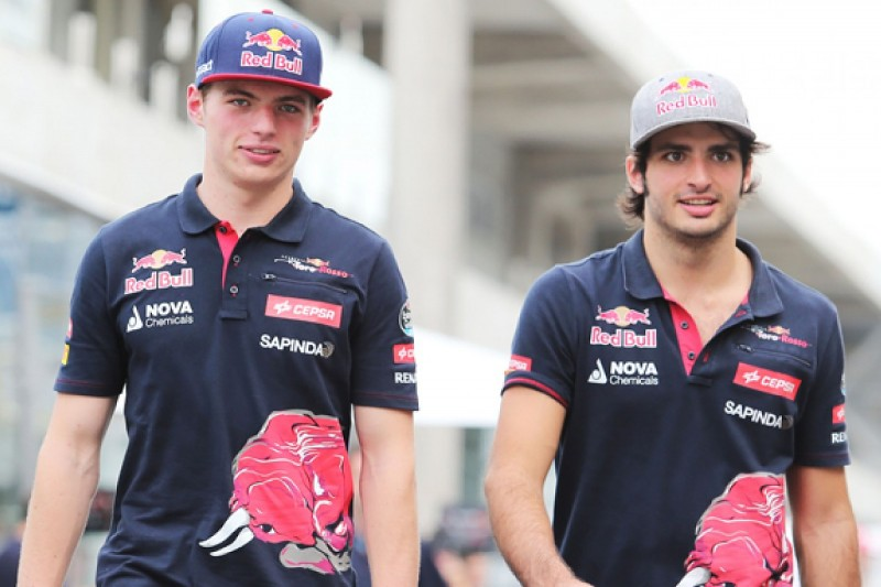 "F1 rookies Verstappen and Sainz ""surprisingly good"" says Toro Rosso"