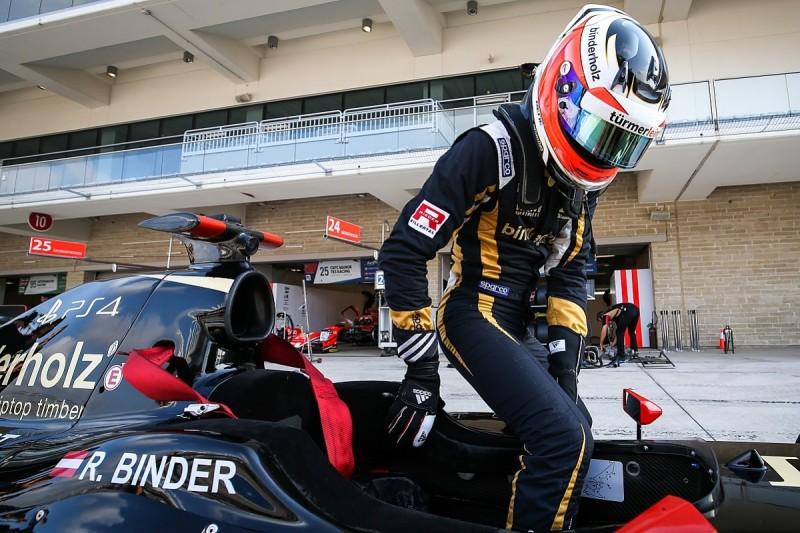Austin FV8 3.5: Lotus driver Rene Binder claims first series pole