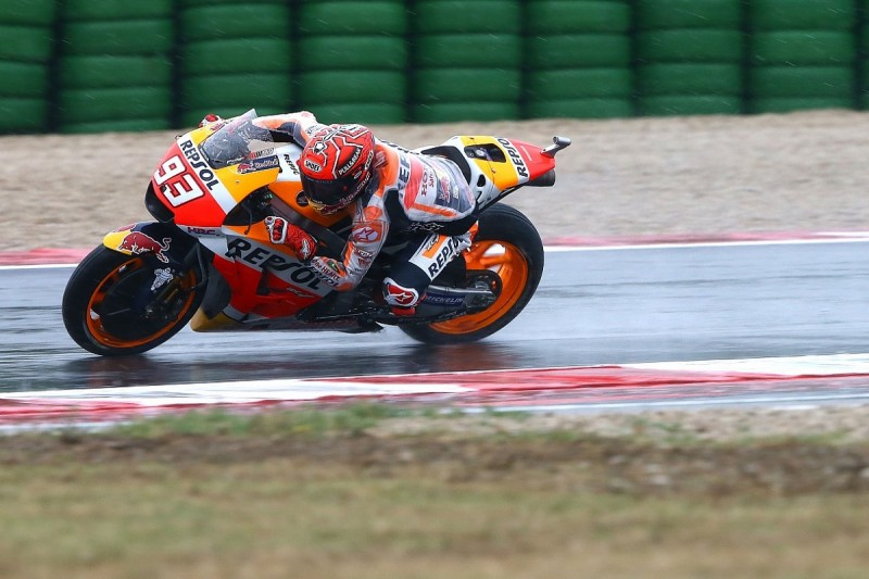 Misano MotoGP: Marc Marquez storms to win in wet conditions