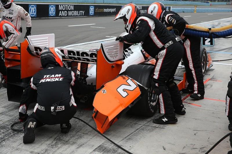 IndyCar leader Josef Newgarden explains Watkins Glen pitlane crash