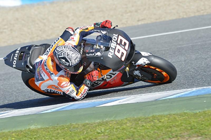 Marc Marquez crashes twice in final Honda MotoGP test of 2015