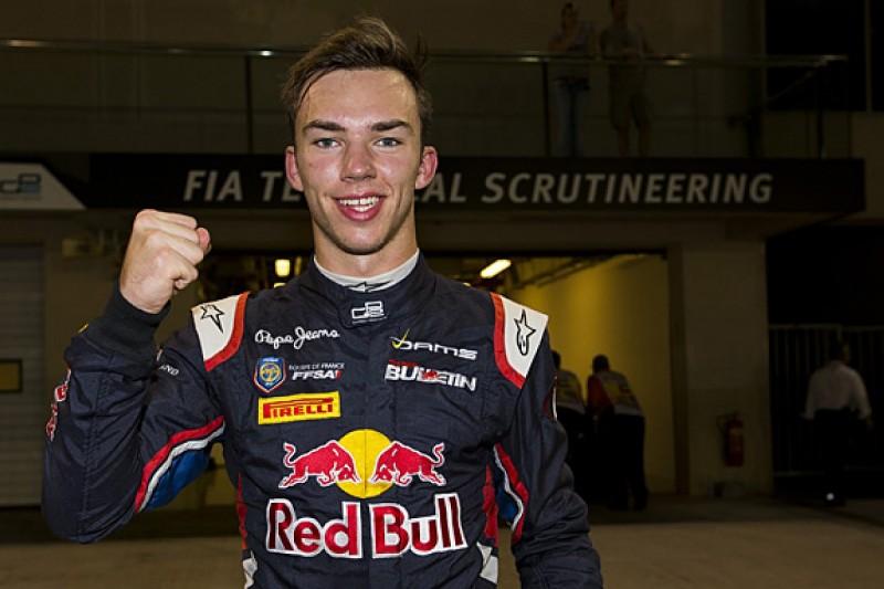 Abu Dhabi GP2: Red Bull's Gasly pips McLaren's Vandoorne for pole
