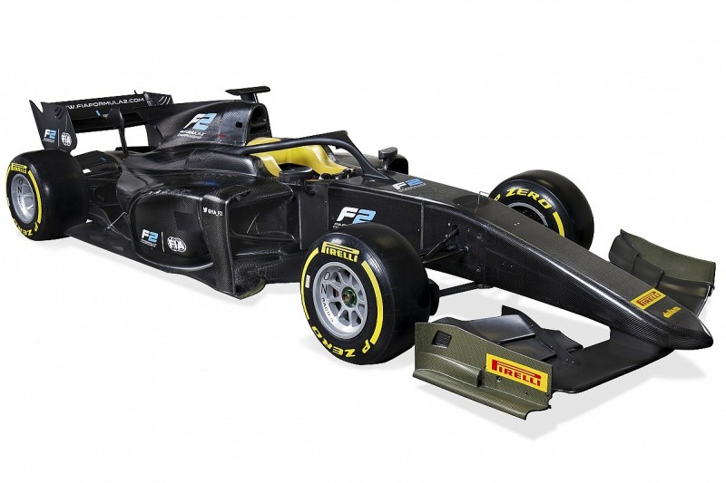 New F2 car for 2018 revealed, featuring halo head protection device