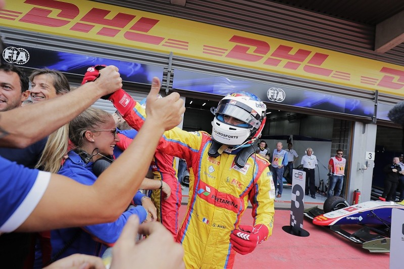 Spa GP3: Giuliano Alesi resists George Russell for third Sunday win