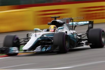 Belgian Grand Prix: Lewis Hamilton heads practice before heavy rain