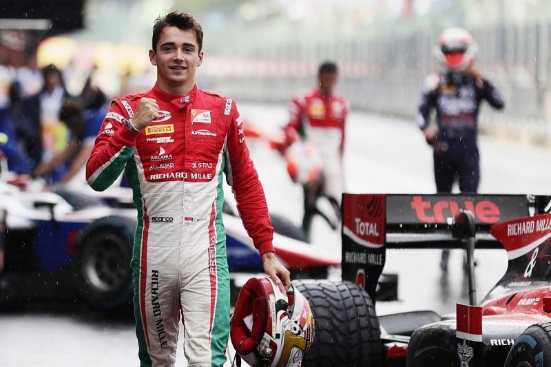 Spa Formula 2: Ferrari F1 junior Charles Leclerc on pole in wet