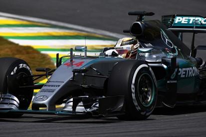 Brazilian F1 GP: Lewis Hamilton tops practice despite incidents