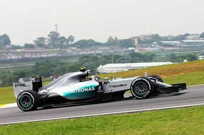Brazilian GP: Nico Rosberg heads Lewis Hamilton in F1 practice two