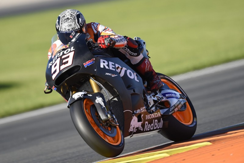 Honda's Marc Marquez finishes MotoGP test on top, despite falling