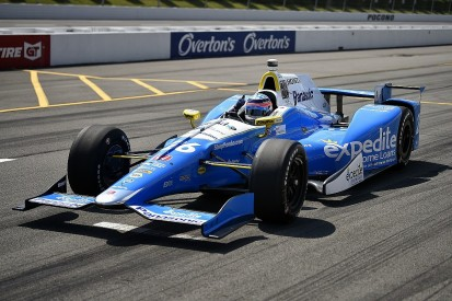 Pocono IndyCar: Sato on pole, Castroneves and Hunter-Reay crash
