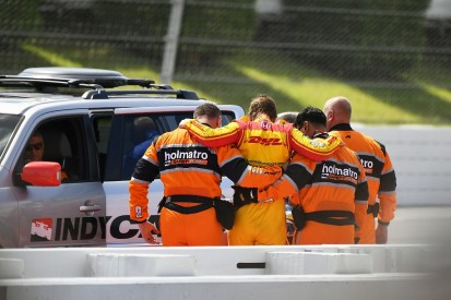 Pocono IndyCar: Hunter-Reay out of hospital but in doubt for race