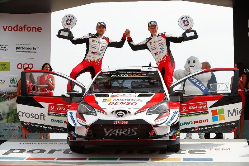 WRC Portugal: Toyota's Tanak wins, Meeke retires on powerstage