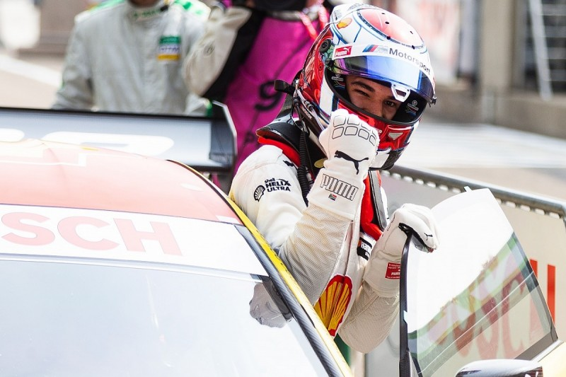 Zolder DTM: BMW's rookie Sheldon van der Linde takes pole