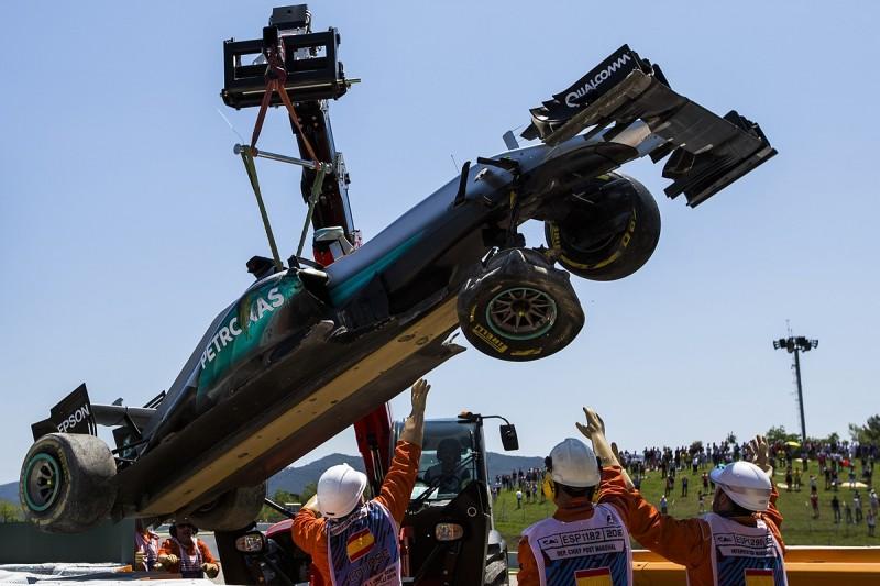 Mercedes checked 1200 parts after Hamilton and Rosberg Spain crash