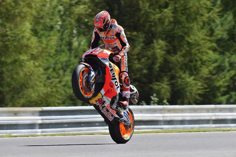 MotoGP Brno: Marc Marquez beats Valentino Rossi to pole position