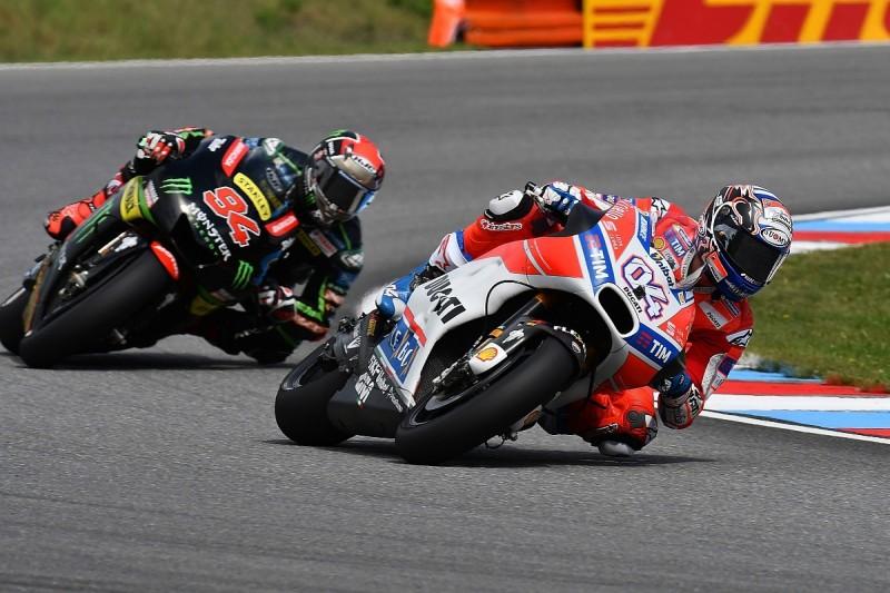 MotoGP Brno: Andrea Dovizioso fastest in dry conditions in FP2