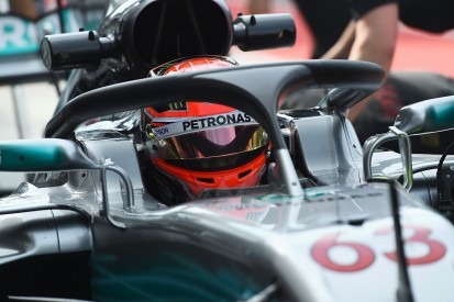 Mercedes F1 tester Russell 'extremely surprised' by halo visibility