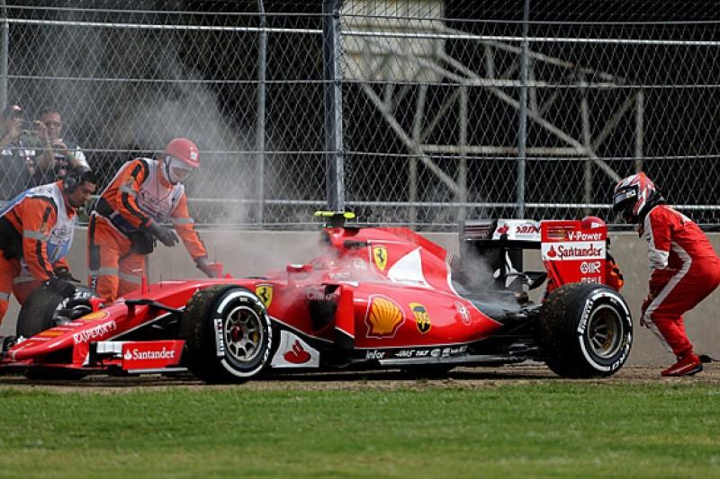 Kimi Raikkonen had to run old-spec Ferrari F1 engine in qualifying