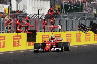 Sebastian Vettel clings on to win tense Hungarian GP for Ferrari