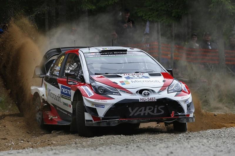 Rally Finland: Esapekka Lappi leads after team-mate Latvala retires
