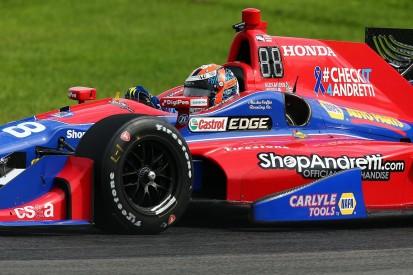 Mid-Ohio IndyCar: Rossi edges team-mate Sato in third practice