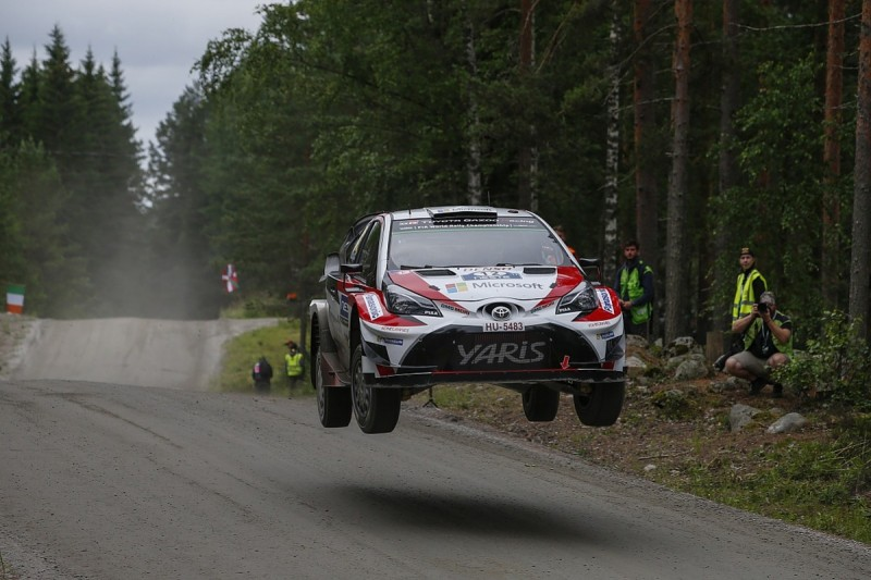 Rally Finland: Toyota's WRC rookie Lappi takes lead from Latvala