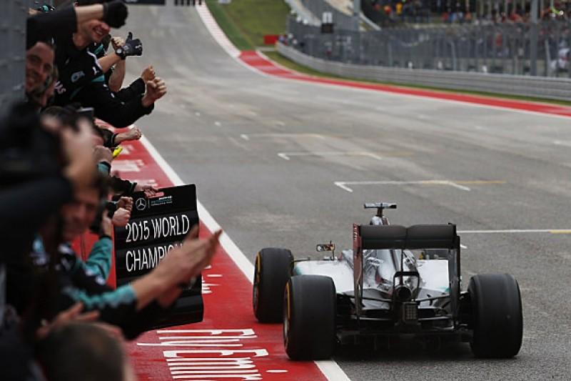 Lewis Hamilton wins his third F1 world title in US Grand Prix