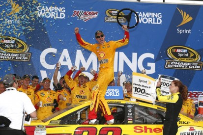 NASCAR Talladega: Logano completes sweep of Chase second phase
