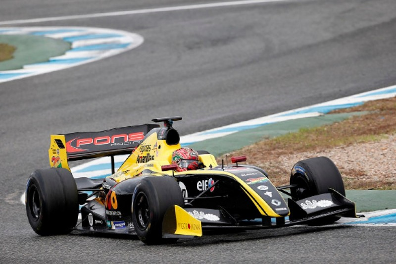 Yu Kanamaru tops first day of Formula 3.5 V8 testing at Jerz