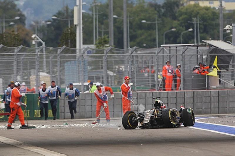 Romain Grosjean's Russian GP crash broke his F1 car's seat