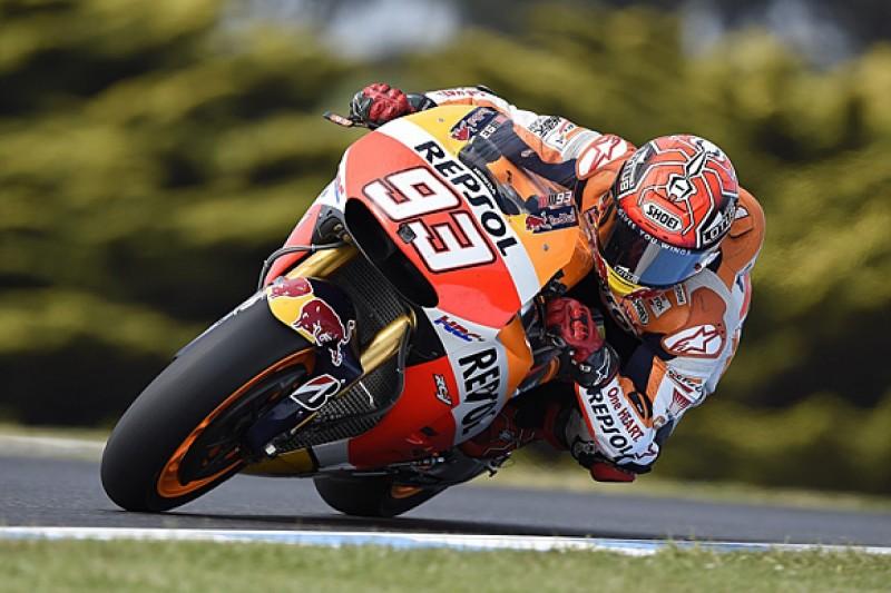 Phillip Island MotoGP: Marc Marquez leads Cal Crutchlow in practice