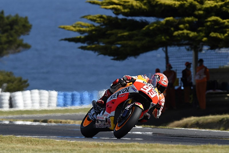 Phillip Island MotoGP: Marc Marquez takes charge in practice two