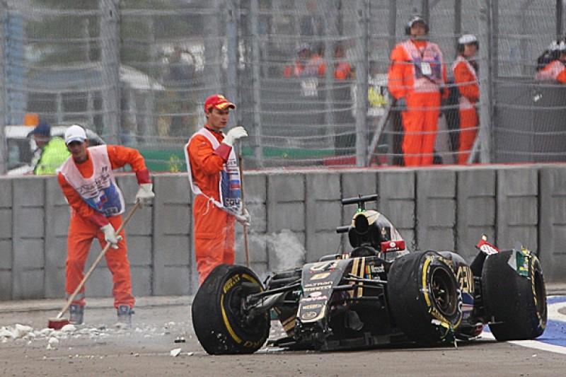 Russian GP: Romain Grosjean closed his eyes in huge F1 crash