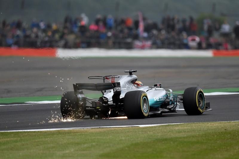 British Grand Prix practice: Lewis Hamilton pips Sebastian Vettel