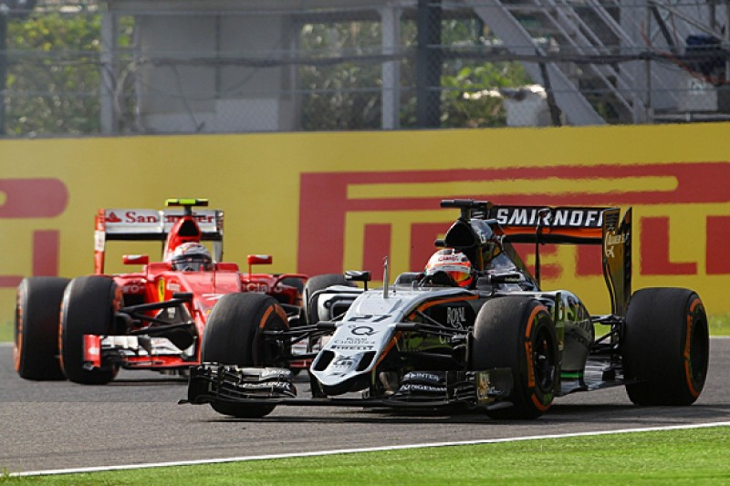 Force India F1 team believes race pace now close to frontrunners