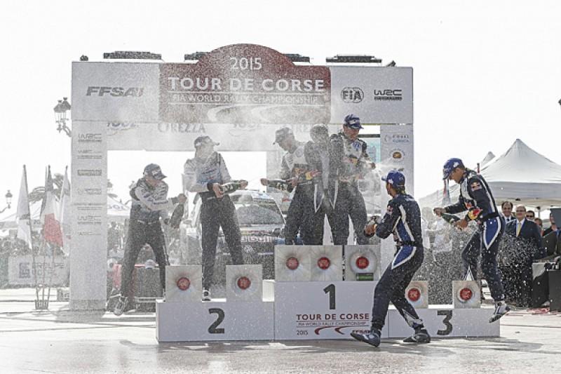 WRC Tour of Corsica: Jari-Matti Latvala wins ahead of Elfyn Evans