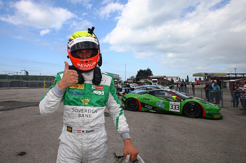 Misano Blancpain Sprint: Norbert Siedler gives Rinaldi Ferrari pole