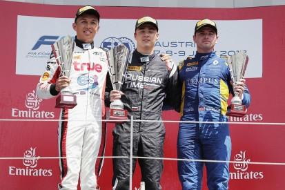 Artem Markelov wins Austria F2 sprint race, Charles Leclerc crashes